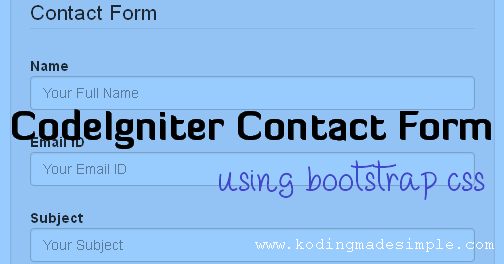 CodeIgniter Contact Form Tutorial with Email Sending Option