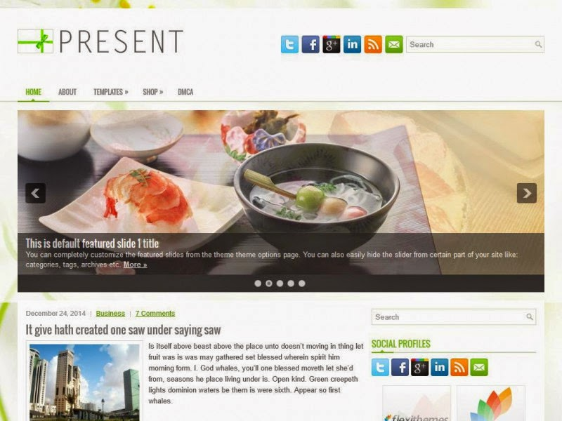 Present - Free Wordpress Theme