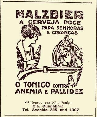 Propaganda da Cerveja Malzbier para crianças - anos 30