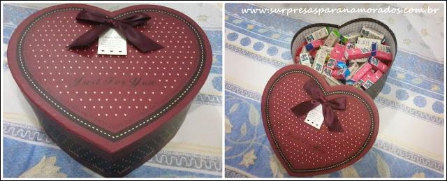 caixa bis em forma de coração