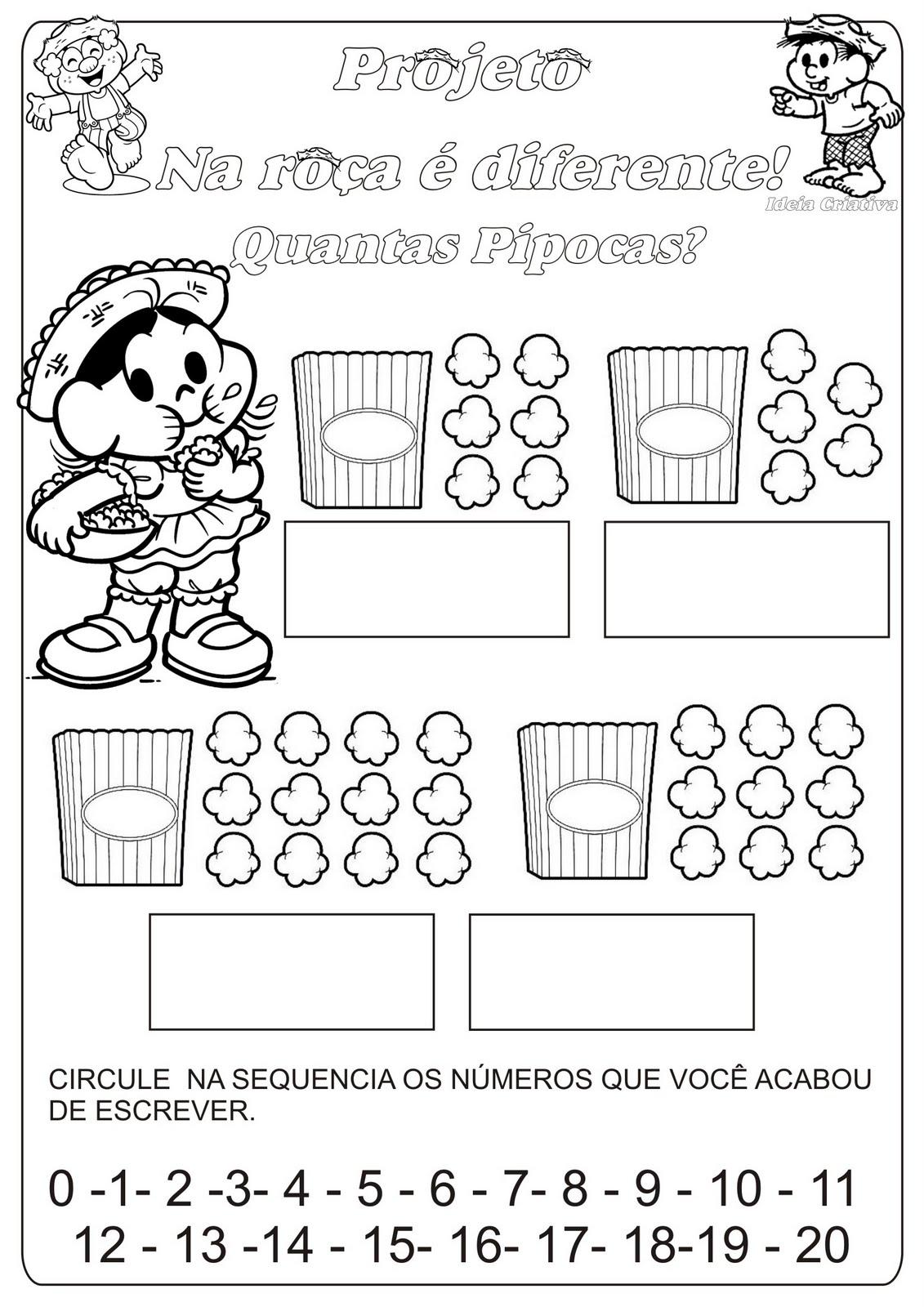 Populares Atividade Numero e Quantidade / Temática Festas Juninas | Ideia  YA69