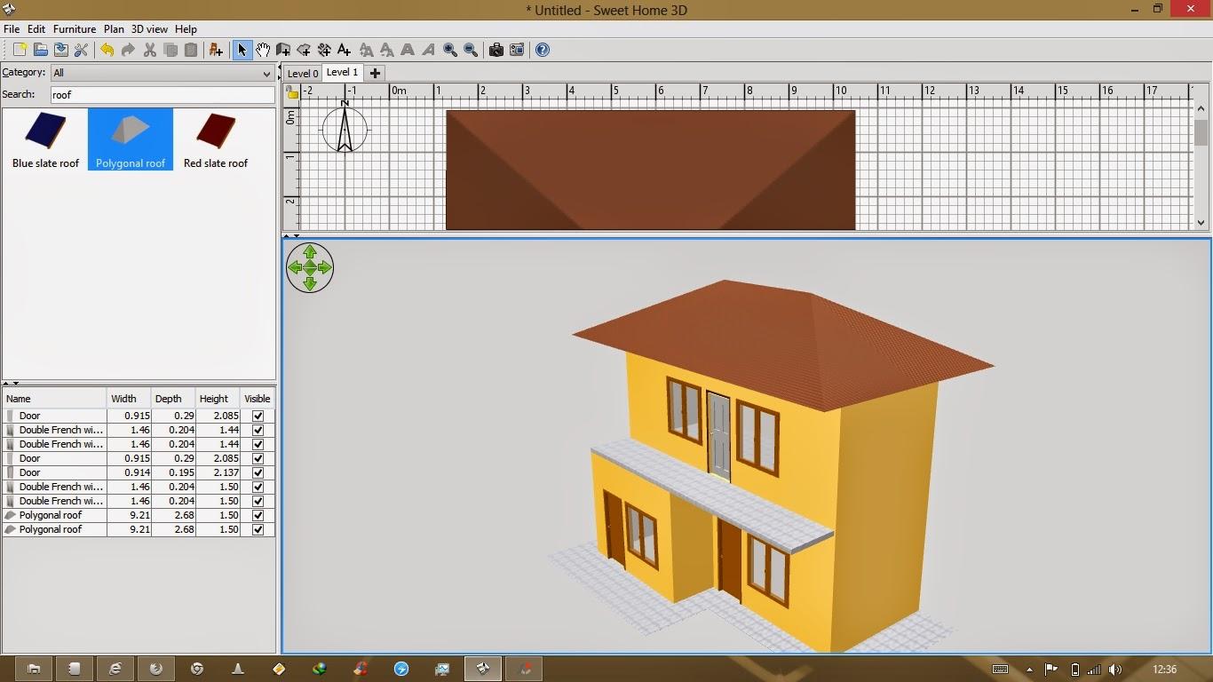 Как сделать крышу в 3d sweet home 3d 68