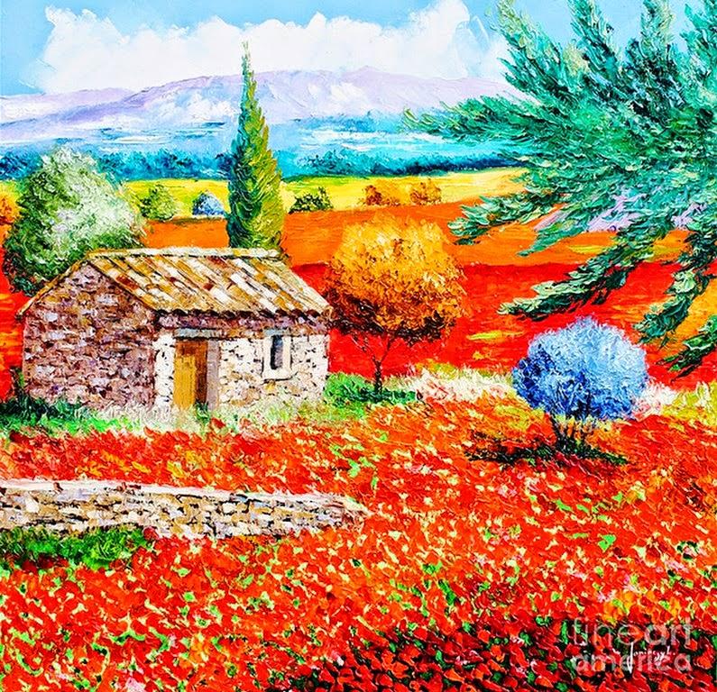 cuadros-de-paisajes-de-primavera-pintados-con-espatula