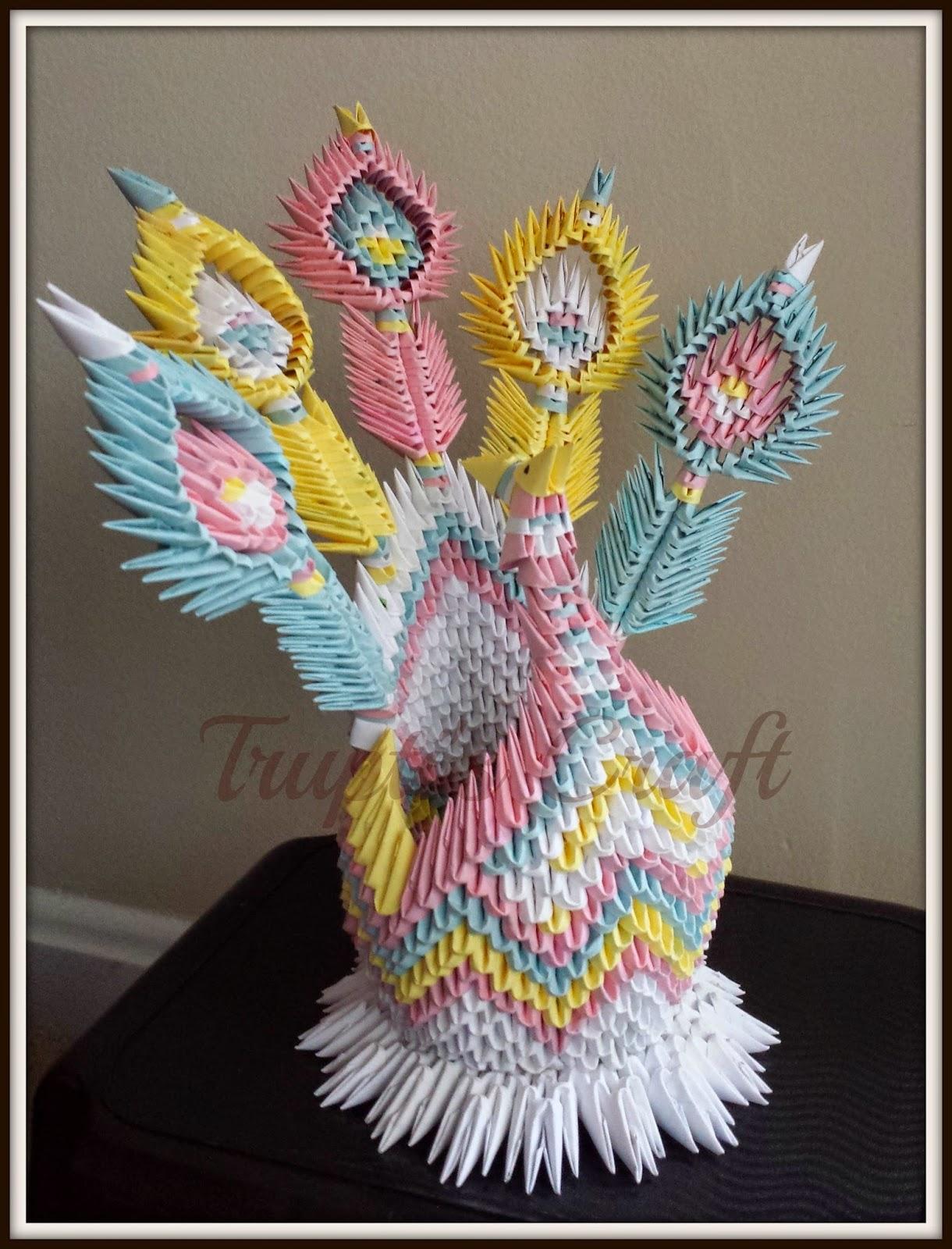 Truptis craft 3d origami bird 3d origami bird jeuxipadfo Gallery