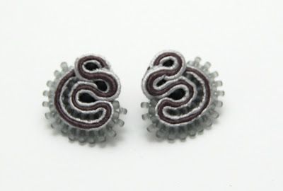 kolczyki sutasz soutache earrings