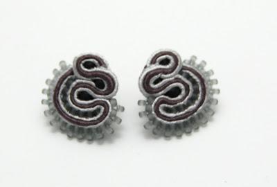 kolczyki sutasz soutache earrings