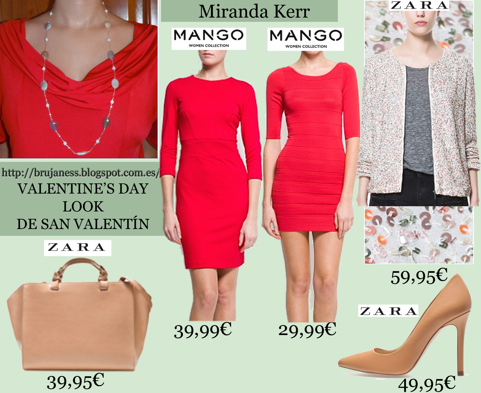 Miranda Kerr bodycon dress, vestido ajustado rojo, san valentín what to wear, as seen on, visto en, nude pumps, zapatos salón maquillaje, ponytail, mango dress, zara bag, shopper, zara, necklace, cardigan sequined, pink, chaqueta lentejuelas, look, combine, combinar, trenzado, handbag