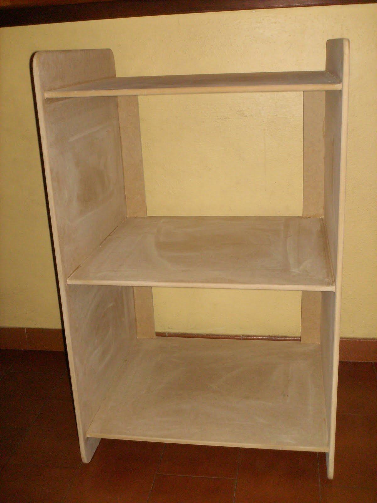 Artesanías en MDF: M0359.- Mueble para 3 Impresoras