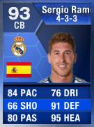Sergio Ramos (TOTY) 93 (433) - FIFA 13 Ultimate Team Card