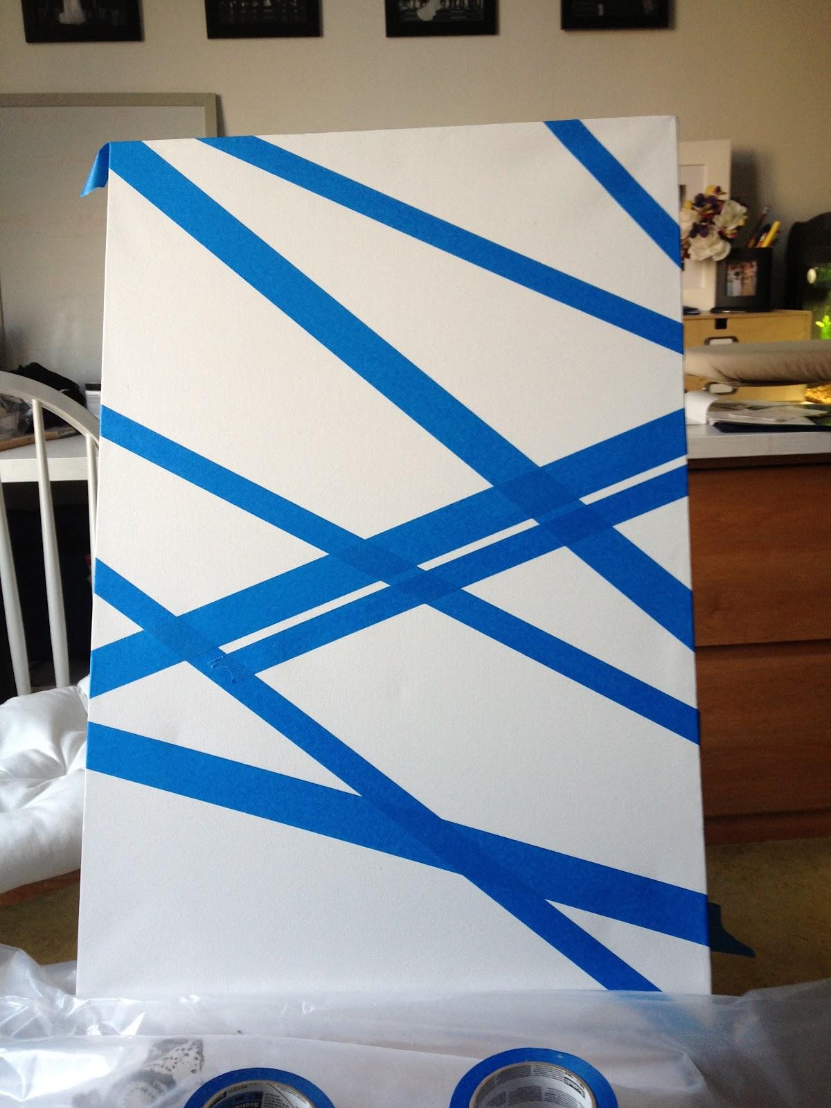 Home Sweet Loft: Geometric Painting for Bathroom