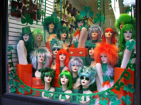 St Patricks day window