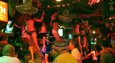 Patong girls dancing at Bangla Road