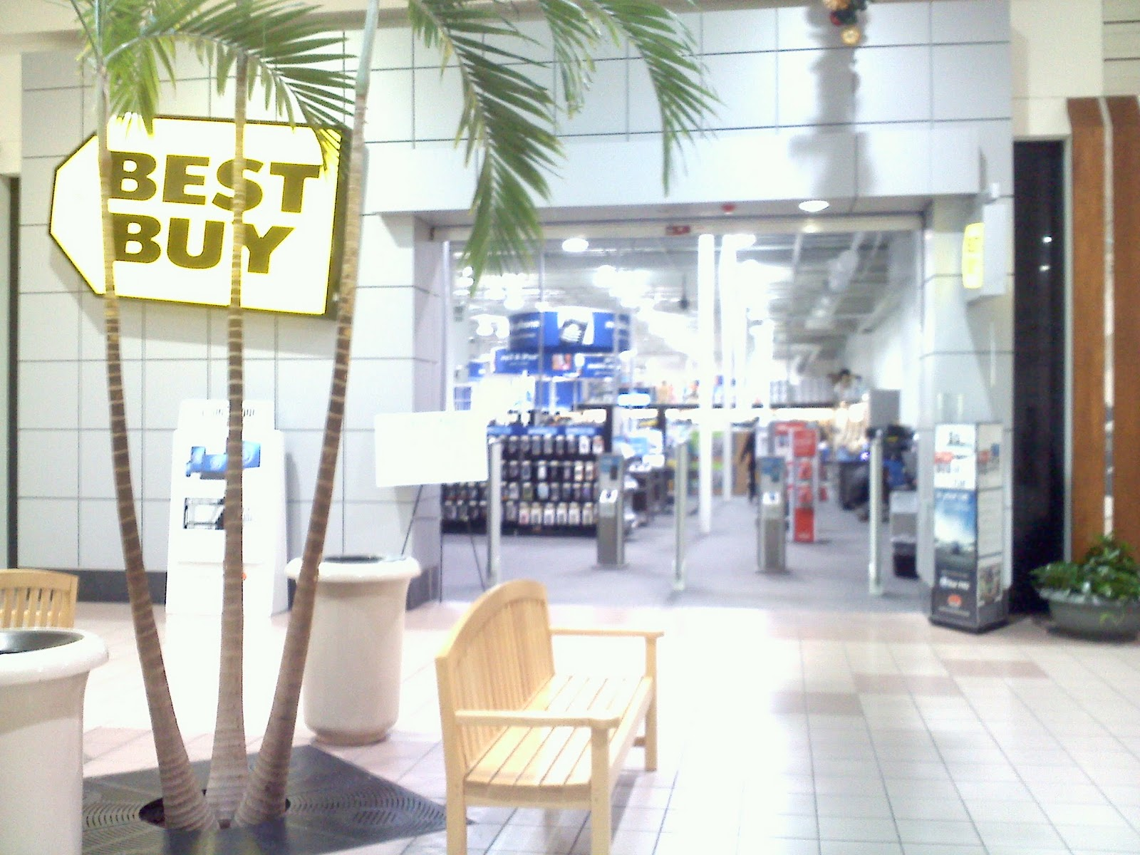 The best buy mall entrance looking towards the sears entrance a mall