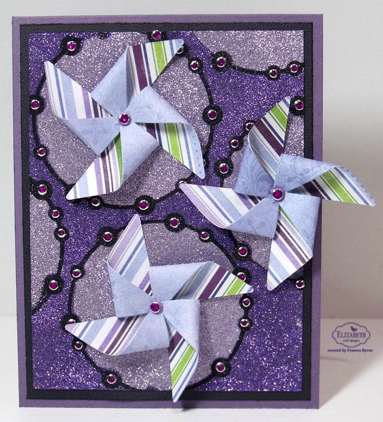Stampowl 39 s studio pinwheel glittered card for Elizabeth craft designs glitter