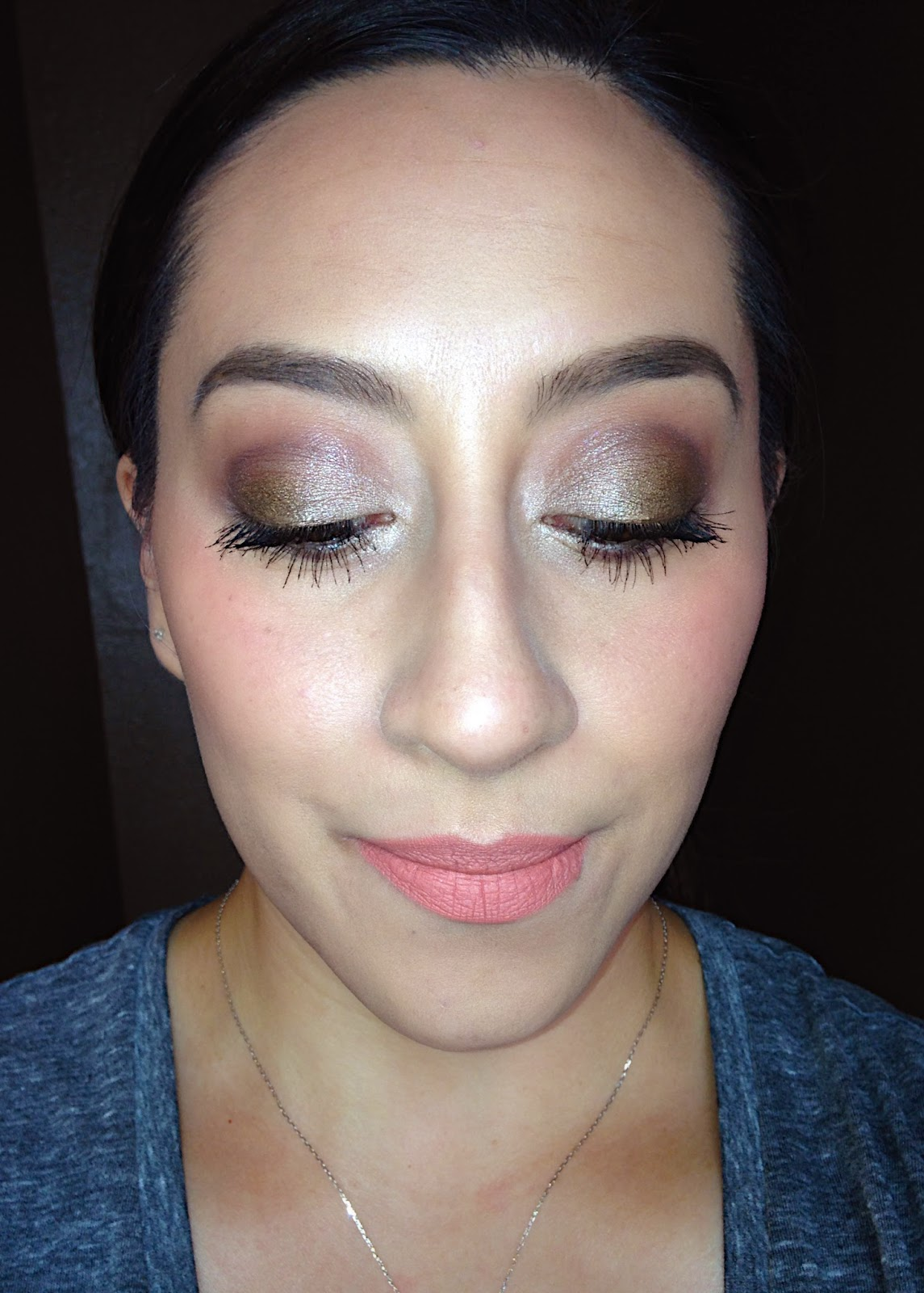 Camo eye look using BH Cosmetics Dark Rose palette