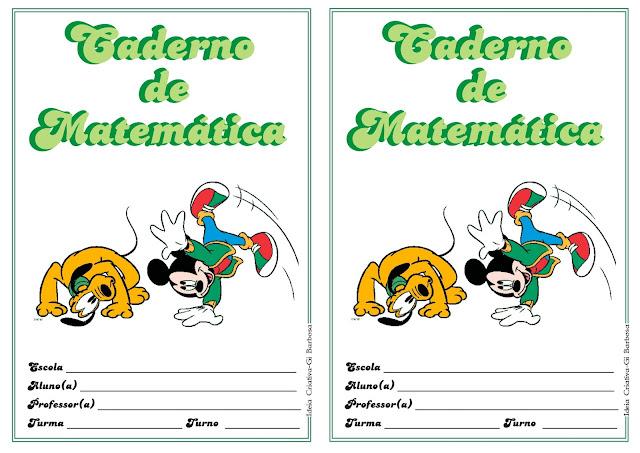 Capas de Caderno Mickey Verde