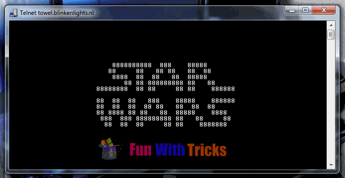 Play Star Wars Movie On Command Prompt (CMD)_FunWidTricks.Com