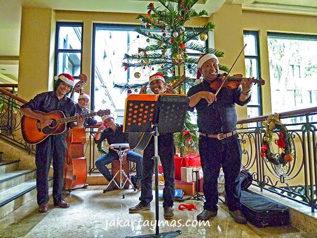 La orquesta del hotel Hyatt Regency en Yogyakarta