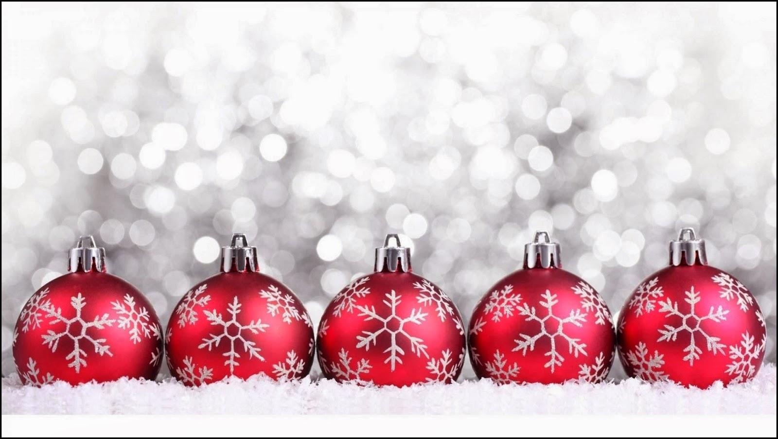 5 bolas navideñas