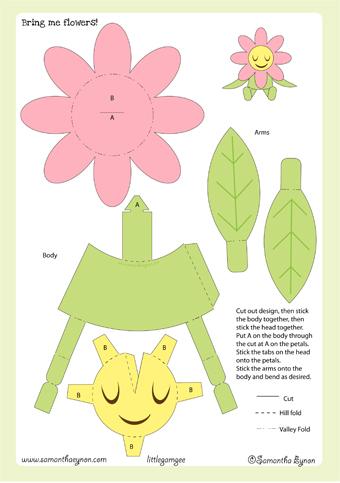 Paper Craft New 315 Papercraft Templates Flower