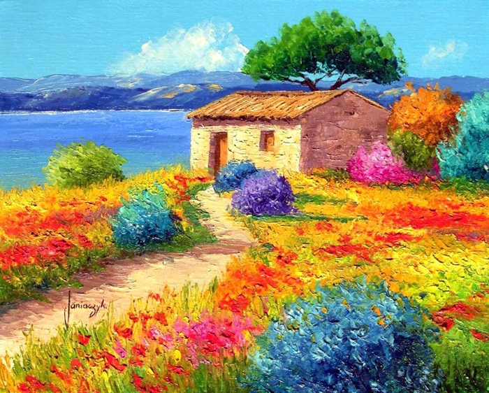 Jean Marc Janiaczyk 1966 | French Realist/Impressionist Knife painter
