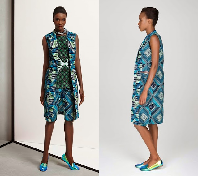 2015 Vlisco African print womens sleeveless jacket and shorts style.