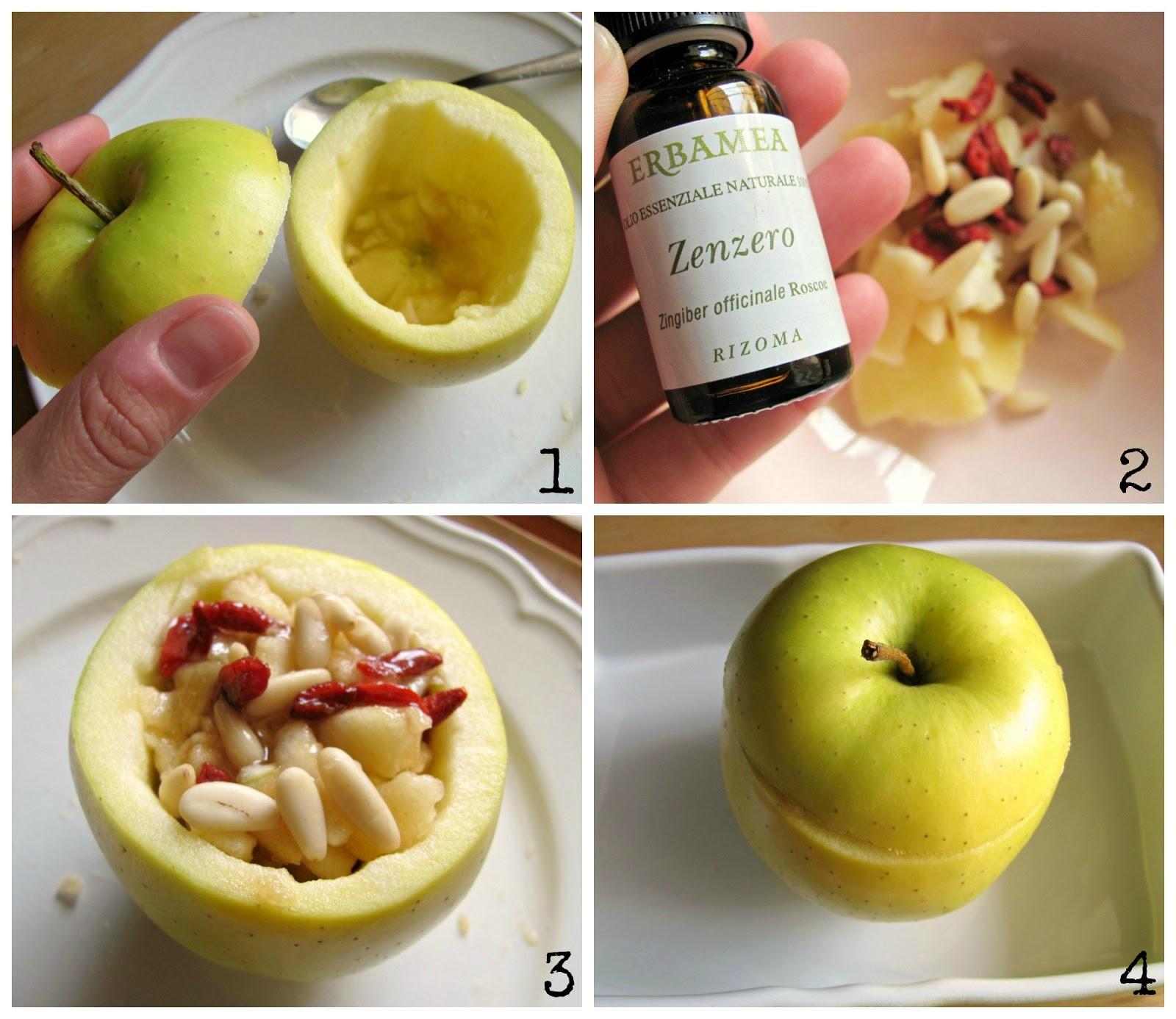 mele al forno ripiene senza zucchero