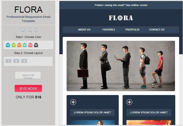 Flora – Stylish Responsive Email Template