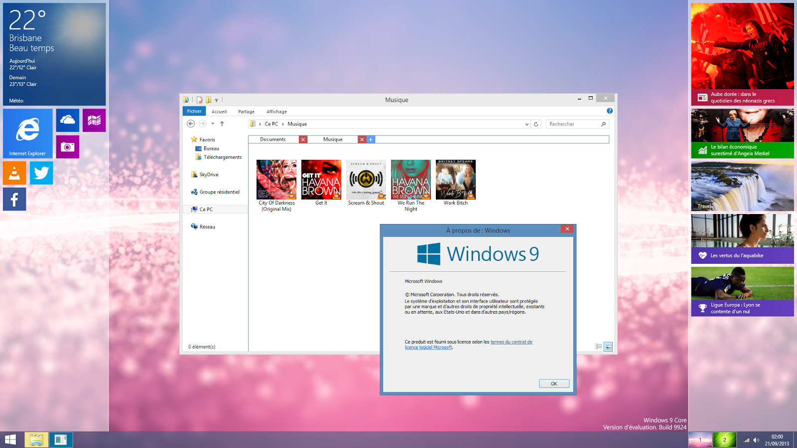 Responsive operating system (windows 9)