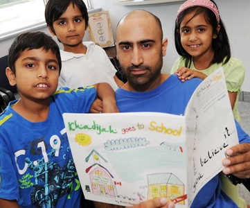 khadija goes school muslim author children book asim hussain