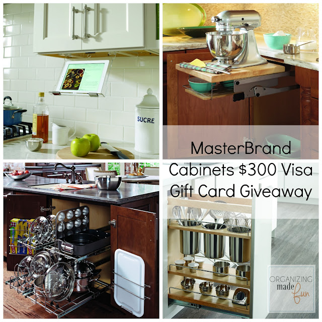MasterBrand Cabinets $300 Visa Gift Card Giveaway :: OrganizingMadeFun.com