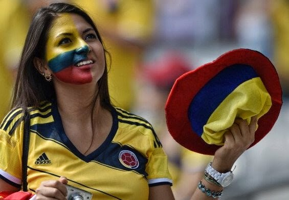 Colombian Girl Fan
