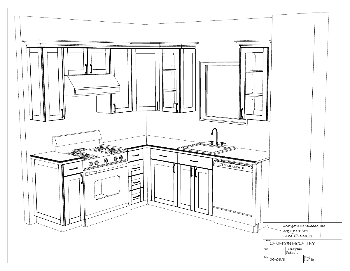Kitchen drawings swoon interiors for How to set up kitchen cabinets