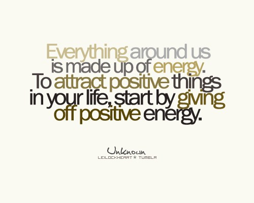 ... on what it means to be positive; to control your conscious state