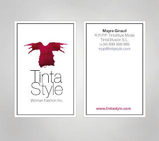 Tarjetas de presentacion CMYK Tinta Style imagen de marca tienda ropa mujer camisetas y moda