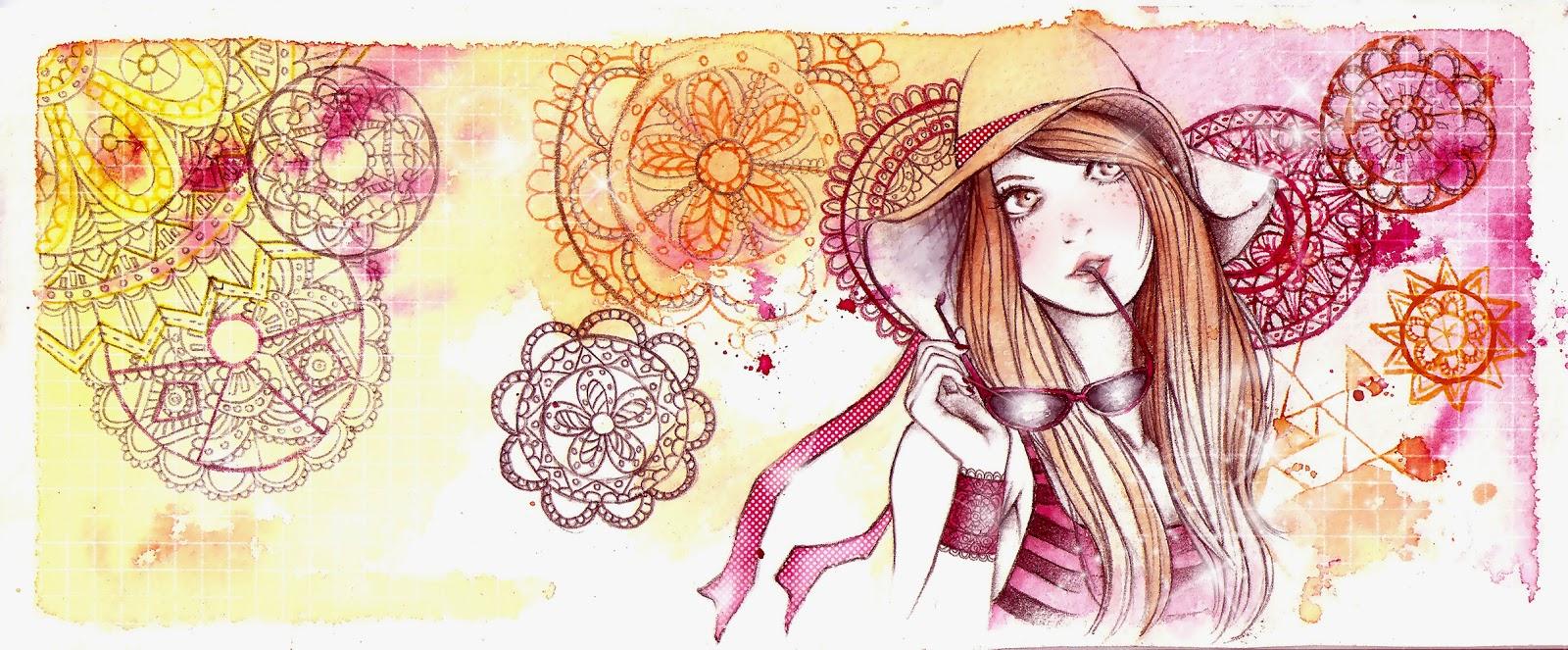 ilustración juvenil a acuarela de Kokoro Ilustración