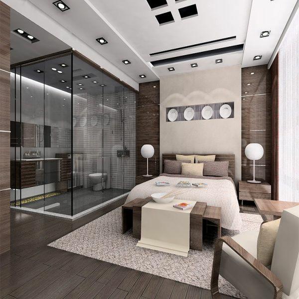 Diseno de habitacion matrimonial con ba o for Diseo de interiores dormitorios