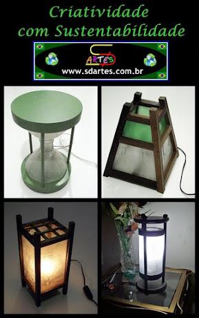 Luminárias de Garrafas PET.