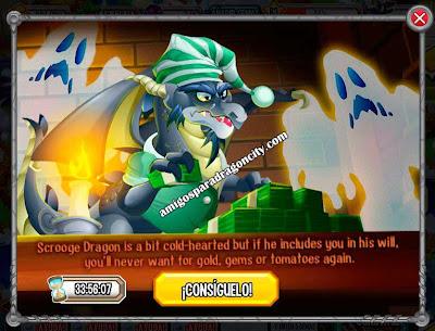 imagen de la oferta del dragon scrooge de dragon city