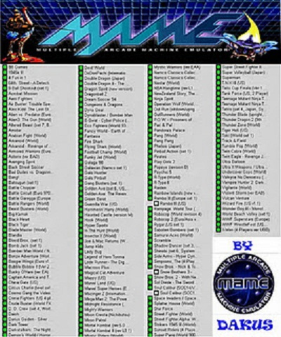 Mame Arcade Games List Bing Images