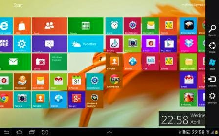 Windows 8 Metro Launcher PRO Apk