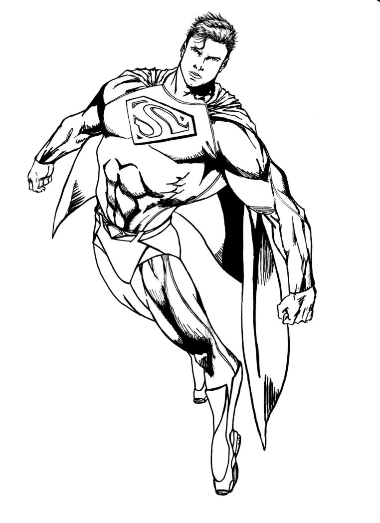 Ambitious image in superman coloring pages printable