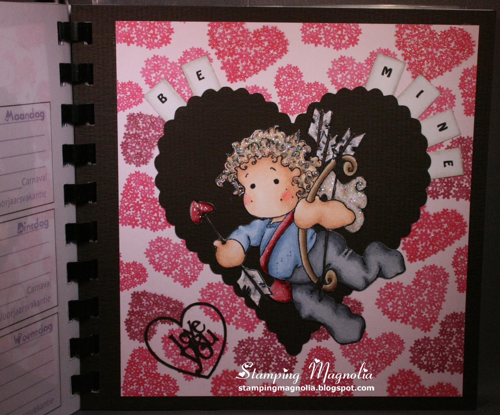 Coloring Magnolia Stamp Sweet Crazy Love Collection Valentino