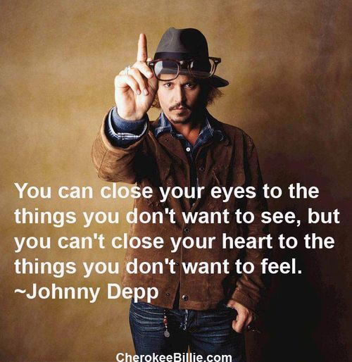 Johnny Depp Quote On Our Eyes And Our Heart