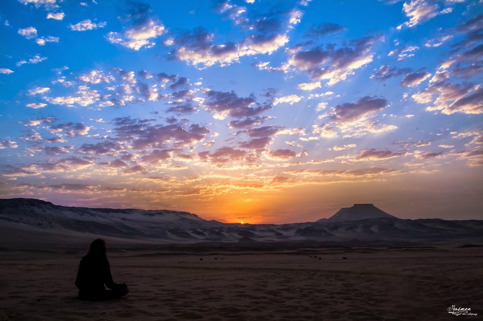 Sunrise at Bahariya Oasis Desert - Yasmen Refaat El-Shaa'rawy