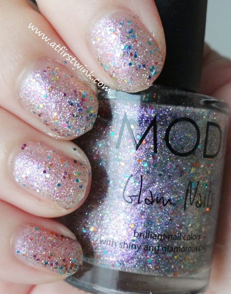 Modi Glam Nails number 34 - Lavender Sugar swatches