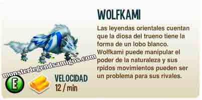 imagen de la descripcion del monstruo wolfkami