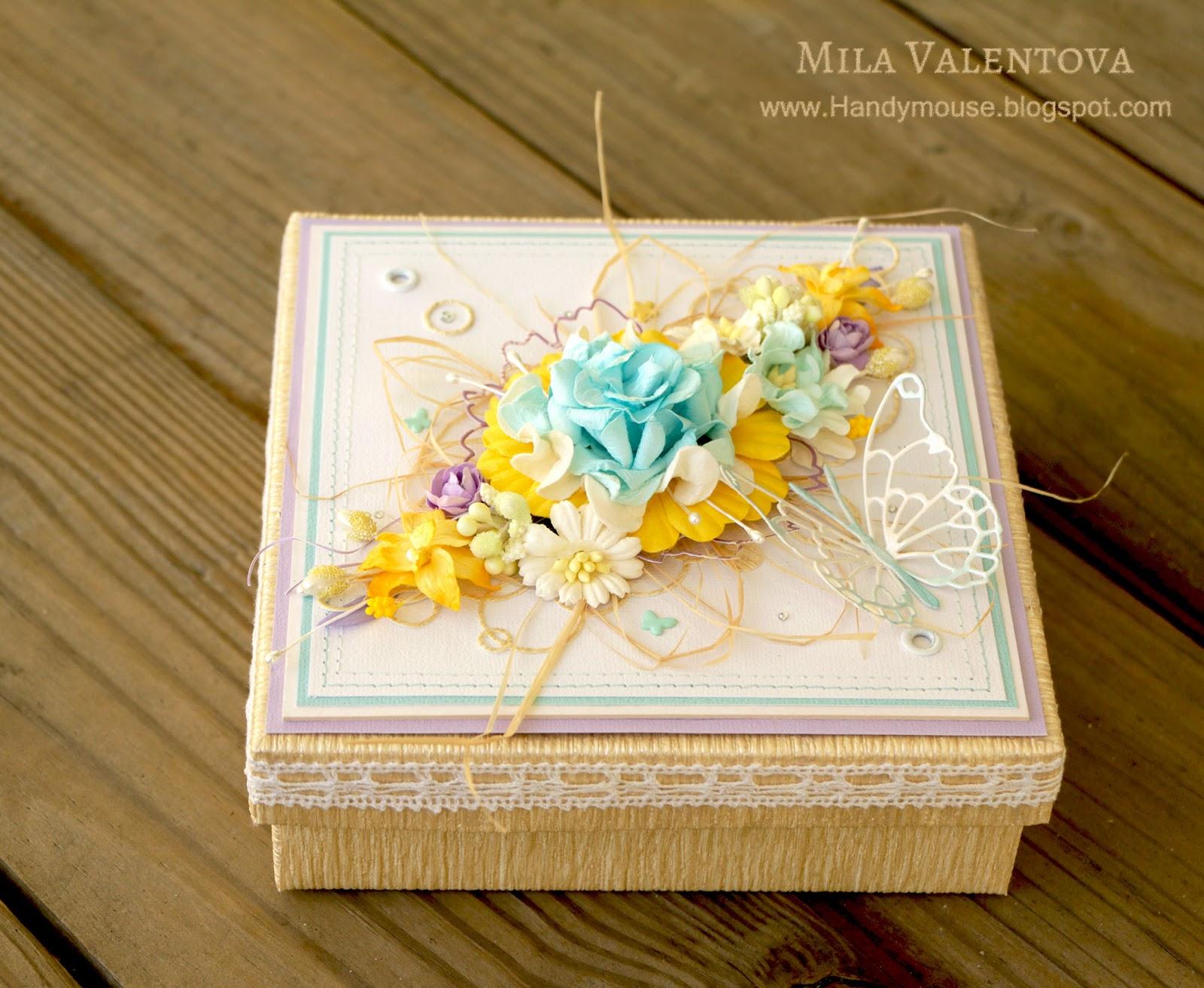 Подарочная коробочка для подвязки невесты. Мила Валентова.