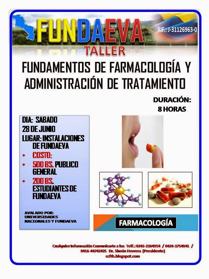 TALLER: FARMACOLOGÍA Y ADMINISTRACIÓN