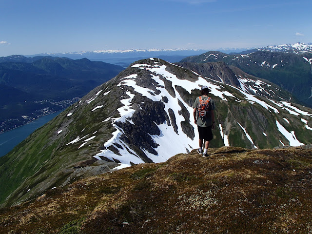 View of Gastineau Peak from Mt Roberts